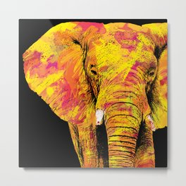 Elephant of Fire Metal Print