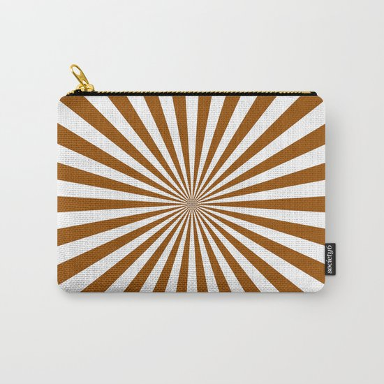 Starburst (Brown/White) Carry-All Pouch
