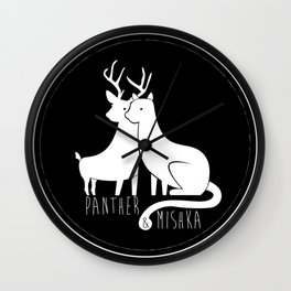 Panther & Mishka Wall Clock