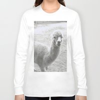 llama Long Sleeve T-shirts featuring Llama by Cat In The Sorting Hat