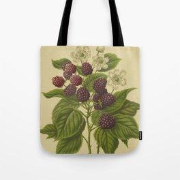 Botanical Blackberries Tote Bag