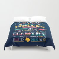 wolves Duvet Covers featuring Wolves by Art of Nanas