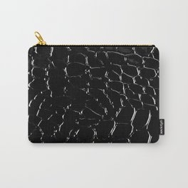 Exotic Black Crocodile Patent Leather Carry-All Pouch