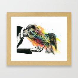 Slenderman stealing souls Framed Art Print