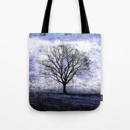 One Fog Tree Blu Tote Bag