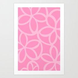 Modern Floral in Pink Art Print