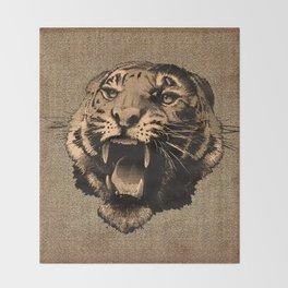 Vintage Tiger Throw Blanket