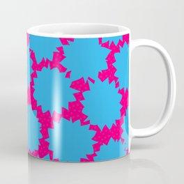 Pop Art Starburst // Blue & Pink Coffee Mug