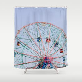 The Wonder Wheel Shower Curtain