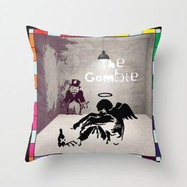 The Gamble Throw Pillow