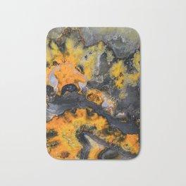 Earth treasures - patters of yellow and orange jaspis Bath Mat