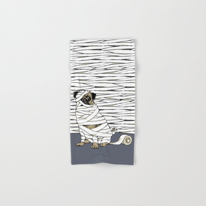 The Mummy Pug Return Hand & Bath Towel