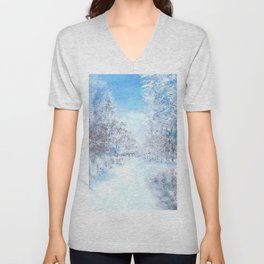 Winter Road Unisex V-Neck