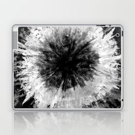 Black and White Tie Dye // Painted // Multi Media Laptop & iPad Skin