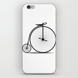 Penny Farthing Silhouette iPhone Skin