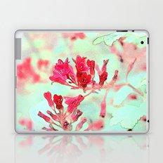 summer pink flowers. botanical art.  floral photo art. Laptop & iPad Skin