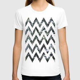 Chevron Black & White World T-shirt