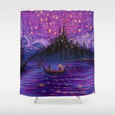 The Lantern Scene Shower Curtain