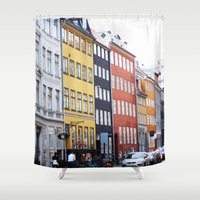 copenhagen Shower Curtains featuring Copenhagen by Anya Kubilus