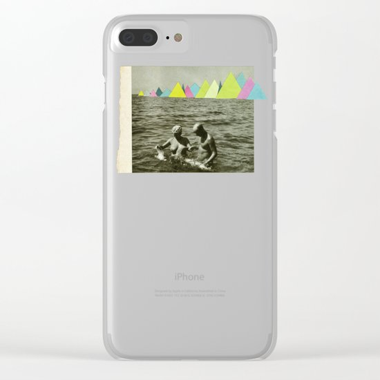 Holiday in the Mountains Clear iPhone Case