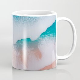 Beautiful ocean waves made by epoxy resin on canvas Coffee Mug