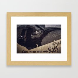This is Not a Pug Framed Art Print