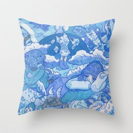 A monologue about illusion Throw Pillow
