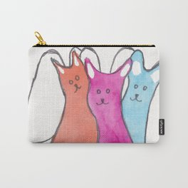 Three Angel Cats Carry-All Pouch