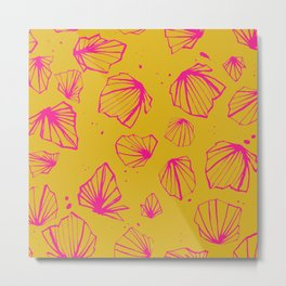 Happy colorfull chalices pink print Metal Print