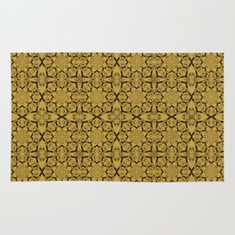 Spicy Mustard Geometric Rug