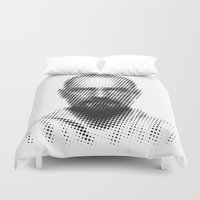 walter white Duvet Covers featuring Walter White by Francesco Petracca