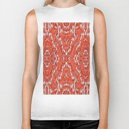 big diamond ikat in vermilion Biker Tank