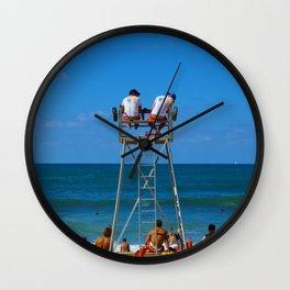 Biarritz, France - Lookouts Wall Clock