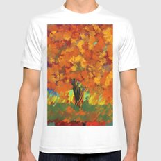 Fall Freedom MEDIUM Mens Fitted Tee White