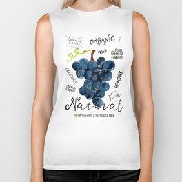 Watercolor grapes Biker Tank
