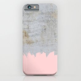 Paint with pink on concrete iPhone Case