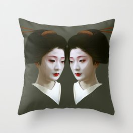 Geiko Throw Pillow