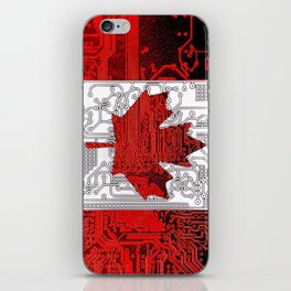 circuit board Canada (Flag) iPhone Skin