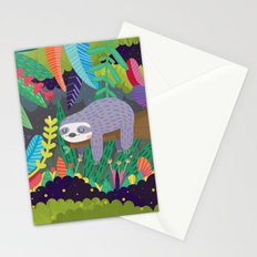 Sloth in nature Stationery Cards