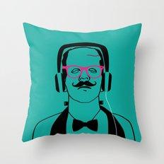 Hipsterstein Throw Pillow
