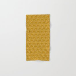 Dotted Scallop in Gold Hand & Bath Towel