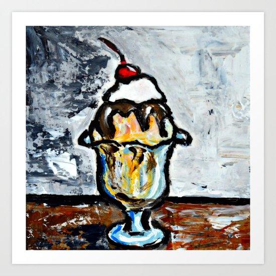 Sweet Treats Still Life: Ice Cream Art Print