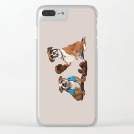 Raging (Colour) Clear iPhone Case