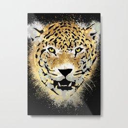 Tiger - Paint Dubs Smears - Grunge Metal Print
