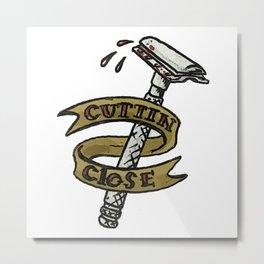 Cutting Close Shaving Razor Tattoo Metal Print