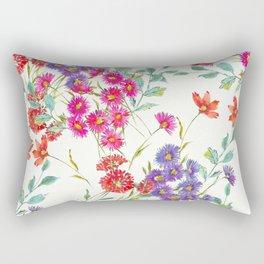 fresh floral spring scatter Rectangular Pillow