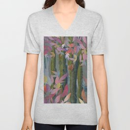 Autumn by a Waterfall Unisex V-Neck