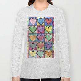 Colorful hearts Long Sleeve T-shirt