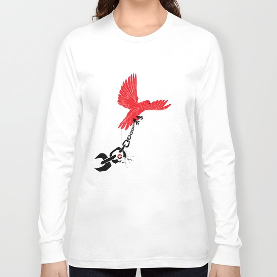 """Glue Network Print Series """"Justice & Freedom"""" Long Sleeve T-shirt"""