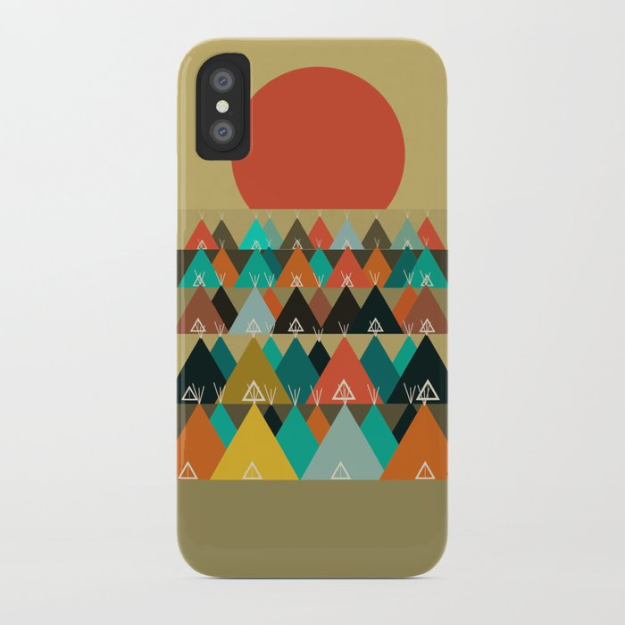 Tipi Moon iPhone Case